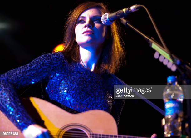 Scottish singer and songwriter Amy MacDonald performs live during a concert at the Astra Club on February 11 2010 in Berlin Germany The concert is a...