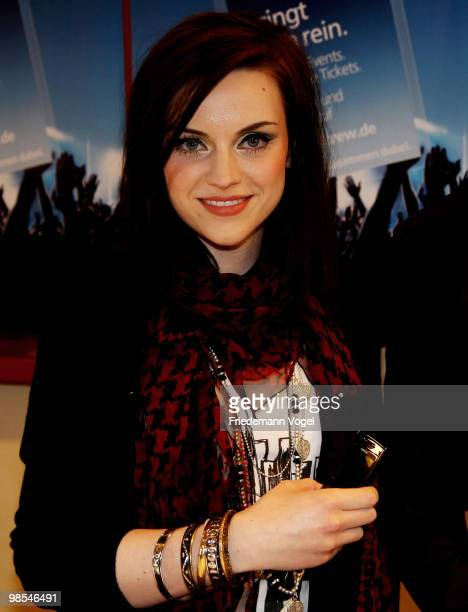 Scottish singer and songwriter Amy McDonald attends the press conference prior to her concert at the Bistro Studio 478 on April 19 2010 in Cologne...