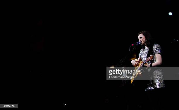 Scottish singer and songwriter Amy McDonald performs during a concert at the EWerk on April 19 2010 in Cologne Germany