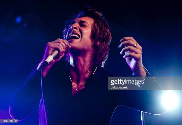 Scottish singer and songwriter Paolo Nutini performs at the Astra Club on November 15 2009 in Berlin Germany