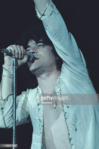 Scottish singer Dan McCafferty of the hard rock band Nazareth in concert at the Great British Music Festival at Olympia London January 1976