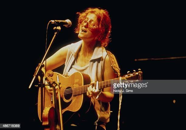 Scottish singer Eddi Reader on stage at The Barbican London 1999