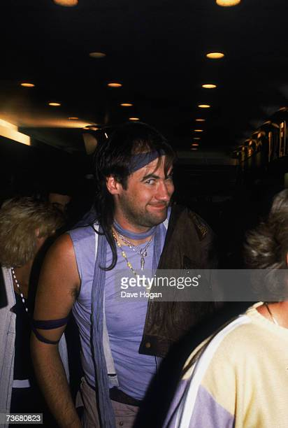 Scottish singer Fish of progressive rock band Marillion circa 1987