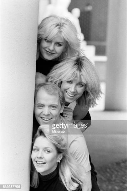 Scottish singer Jim Diamond pictured with his backing group Vicki and Sam Brown wife and daughter of Joe Brown and Sonia Jones Pictured top to bottom...