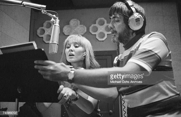 Scottish singer, Lulu and music producer/engineer Tom Dowd at Muscle Shoals Sound Studios on September 3, 1969 in Muscle Shoals, Colbert County,...
