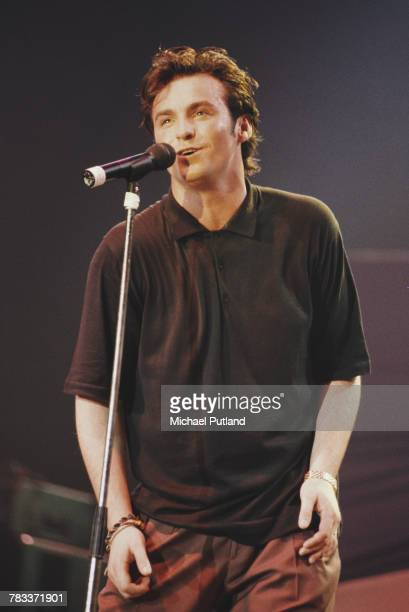 Scottish singer Marti Pellow of Wet Wet Wet performs live on stage at the Prince's Trust Concert at Wembley Arena London 6th June 1987