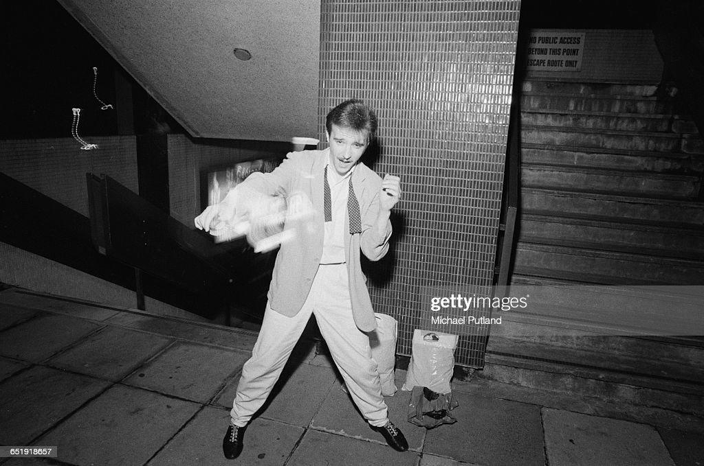 Scottish singer Midge Ure of British new wave band Ultravox, UK, August 1980.
