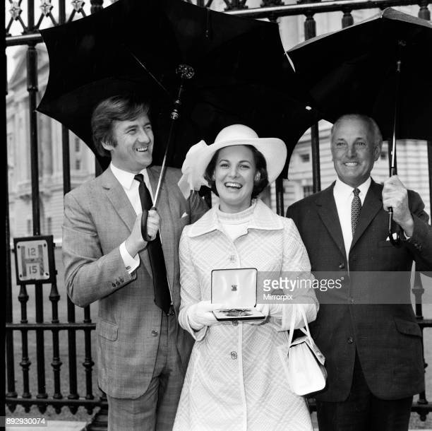 Scottish singer Moira Anderson who attended the investiture at Buckingham Palace to recieve her OBE Pictured after the investiture 14th July 1970