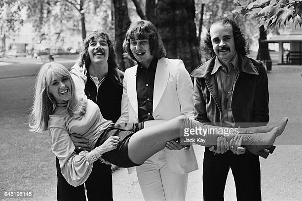 Scottish singer Sally Carr the lead singer of pop group Middle of the Road UK 23rd June 1971 Their song 'Chirpy Chirpy Cheep Cheep' was currently...