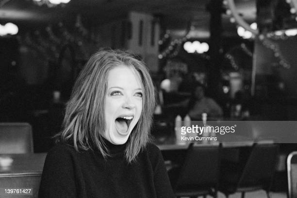 Scottish singer Shirley Manson of American alternative rock band Garbage Wisconsin USA 16th February 1996