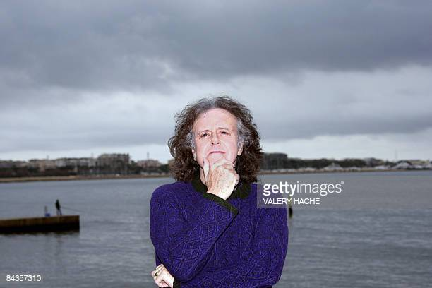 Scottish singer songwriter and guitarist Donovan poses during a photocall on January 19 2009 in Cannes southeastern France during the MIDEM the...