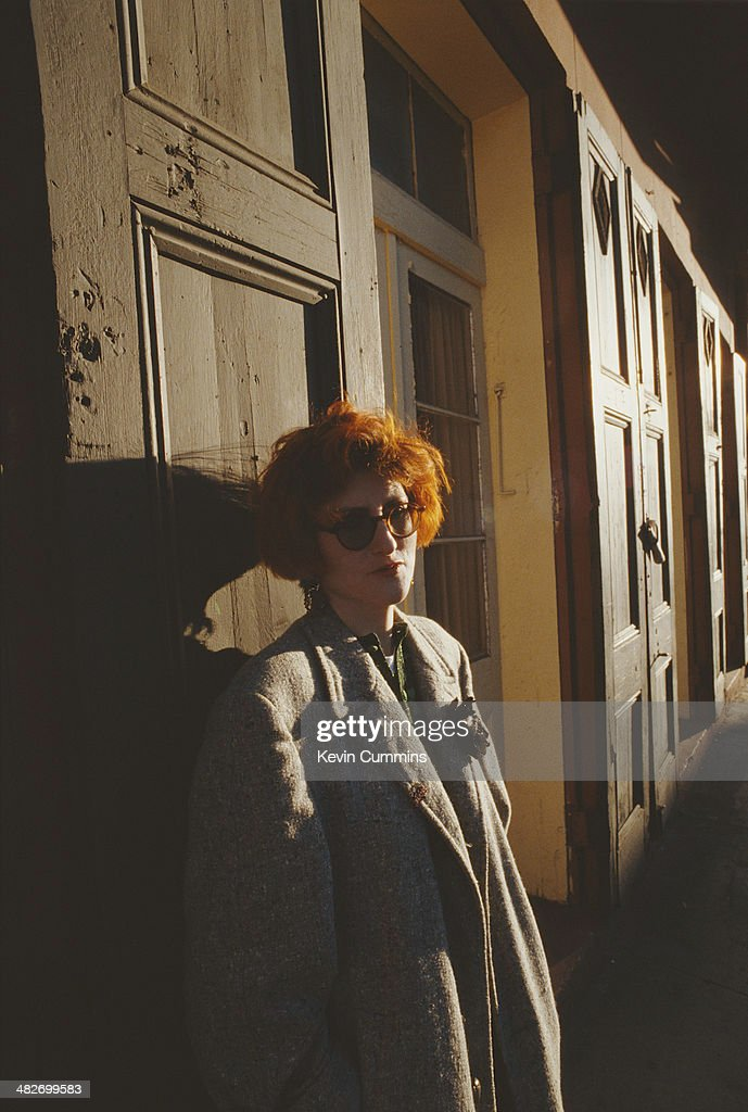 Scottish singer-songwriter Eddi Reader, of British acoustic pop group Fairground Attraction, New Orleans, January 1989.