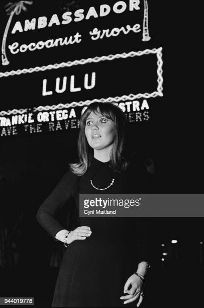 Scottish singersongwriter Lulu at the Cocoanut Grove Boston Massachusetts US 14th March 1968