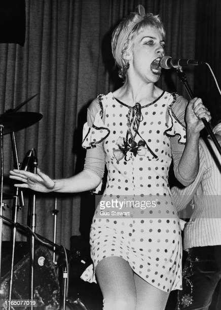 Scottish singer-songwriter, political activist and philanthropist Annie Lennox of rock band The Tourists performing live, circa 1976.