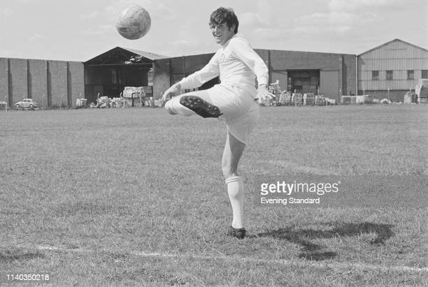 Scottish soccer player Eddie Gray of Leeds United FC dribbling during training UK 29th July 1969