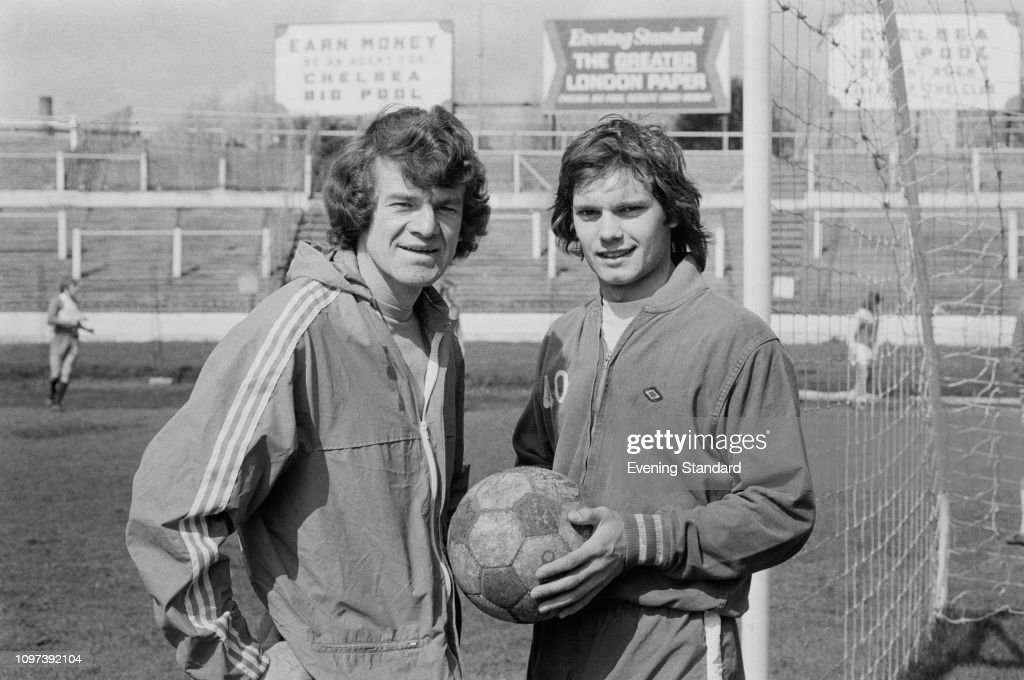 Scottish soccer player Eddie McCreadie and English soccer player ...