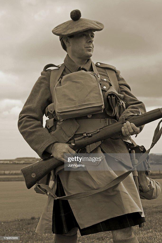 Écossais soldat Première Guerre mondiale. : Photo