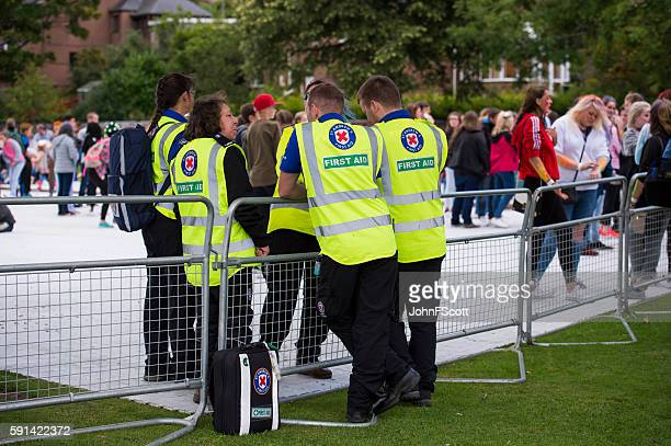 Scottish St Andrew's first aid workers at a public event