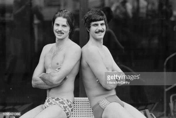 Scottish swimmer David Wilkie and American swimmer Mark Spitz UK 20th April 1978