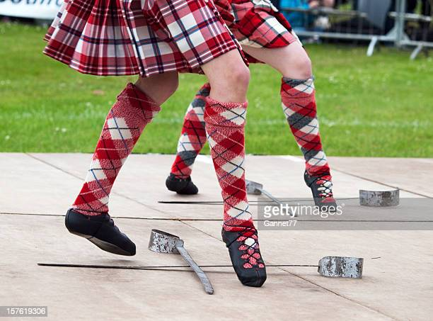 scottish sword dancing - highland games stock pictures, royalty-free photos & images