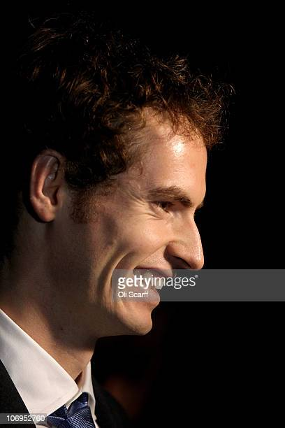 Scottish tennis player Andy Murray is interviewed outside Number 10 Downing Street on November 18 2010 in London England British Prime Minister David...