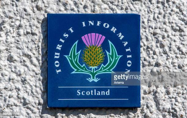 Scottish tourist information sign / logo Scotland United Kingdom