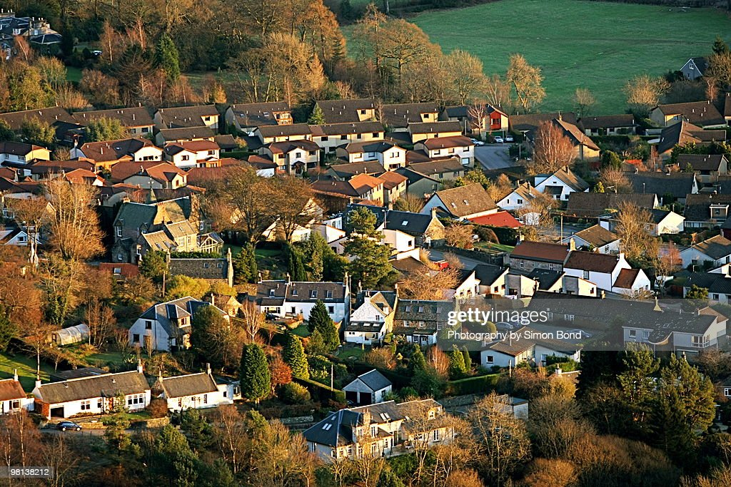 A Scottish village : Stock Photo