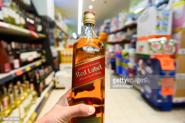 Scottish whiskey brand Johnnie Walker Red Label is seen in Krakow Krakow is the second largest city in Poland and it is located in the southern part...