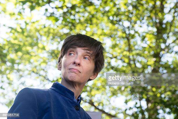 Scottish writer Alison Louise AL Kennedy attends a photocall at Edinburgh International Book Festival at Charlotte Square Gardens on August 17 2016...