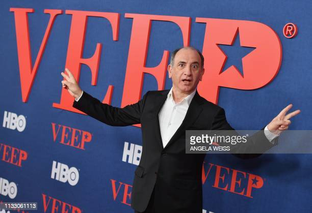 """Scottish writer and producer Armando Iannucci attends the premiere of the seventh and final season of HBO's """"Veep"""" at Alice Tully Hall at the Lincoln..."""