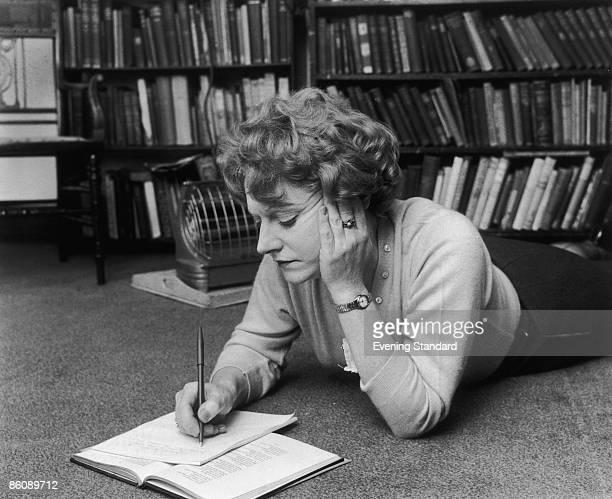 Scottish writer Muriel Spark at work May 1960
