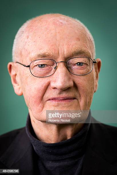 Scottish writer Richard Holloway attends a photocall at Edinburgh International Book Festival on August 18 2015 in Edinburgh Scotland