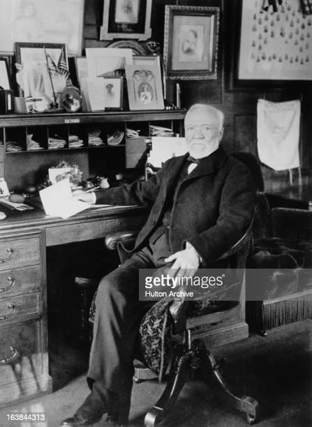 ScottishAmerican industrialist Andrew Carnegie circa 1910