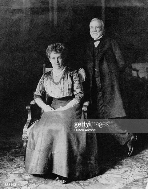 ScottishAmerican industrialist Andrew Carnegie with his wife Louise Whitfield Carnegie circa 1905