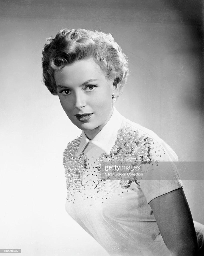 Scottish-born actress Deborah Kerr (1921 - 2007), circa 1950.