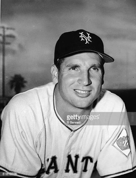 Scottish-born American professional baseball player Bobby Thomson of the New York baseball Giants smiles in a portrait, New York, 1951.