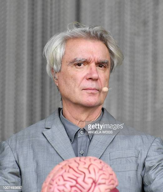 ScottishUS singer David Byrne performs during the Panorama Music Festival on Randall's Island on July 29 2018 in New York