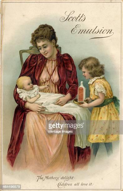 Scott?s Emulsion 'The Mother?s delight, Children All Love It', c.1900.