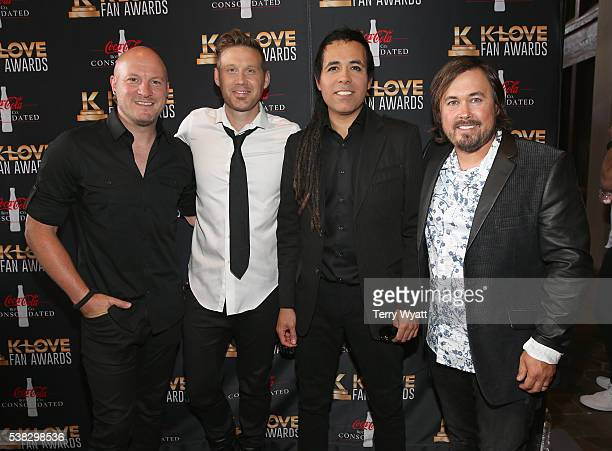 Scotty Beshears Paul Bowden Christian Fuhrer and Saul Johnson from musical group Building 429 attend the 4th Annual KLOVE Fan Awards at The Grand Ole...