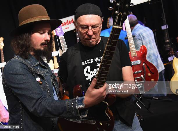 Scotty Bratcher Scotty Bratcher Band and Dave Hinson Killer Vintage Guitars during 2017 Amigo Nashville Guitar Show at Liberty Hall in The Factory on...