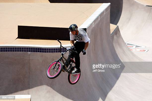 Scotty Cranmer competes in the BMX Freestyle Park Final during X Games 15 at the Home Depot Center on August 1 2009 in Carson California