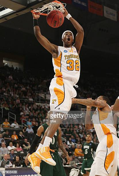 Scotty Hopson of the Tennessee Volunteers dunks the ball in the second half against the Ohio Bobcats during the second round of the 2010 NCAA men's...