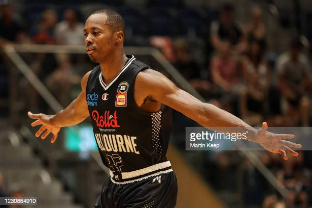Scotty Hopson of United is seen during the round three NBL match between Melbourne United and the South East Melbourne Phoenix at Bendigo Stadium, on...