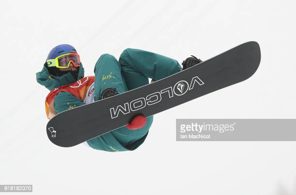 Scotty James of Australia competes during the Men's Halfpipe Final at Phoenix Snow Park on February 14, 2018 in Pyeongchang-gun, South Korea.