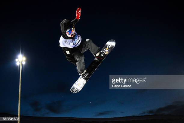 Scotty James of Australia competes during the Men's Snowboard Halfpipe Final on day four of the FIS Freestyle Ski and Snowboard World Championships...