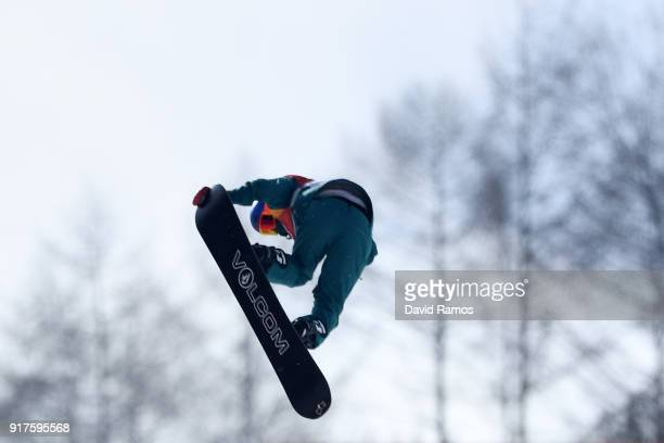 Scotty James of Australia competes during the Snowboard Men's Halfpipe Qualification on day four of the PyeongChang 2018 Winter Olympic Games at...