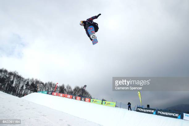 Scotty James of Australia competes in the FIS Freestyle World Cup Snowboard Halfpipe Qualification at Bokwang Snow Park on February 17 2017 in...