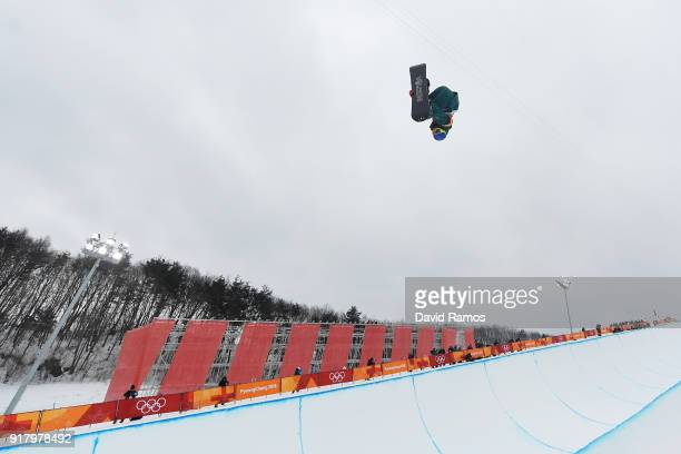 Scotty James of Australia competes in the Snowboard Men's Halfpipe Final on day five of the PyeongChang 2018 Winter Olympics at Phoenix Snow Park on...