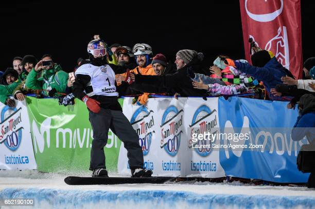 Scotty James of Australia wins the gold medal during the FIS Freestyle Ski Snowboard World Championships Halfpipe on March 11 2017 in Sierra Nevada...