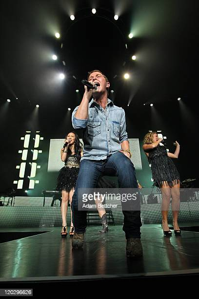 Scotty McCreery of American Idols Live performs at Target Center in Minneapolis Minnesota on August 3 2011